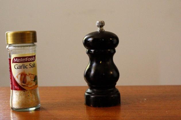 (garlic) salt and pepper