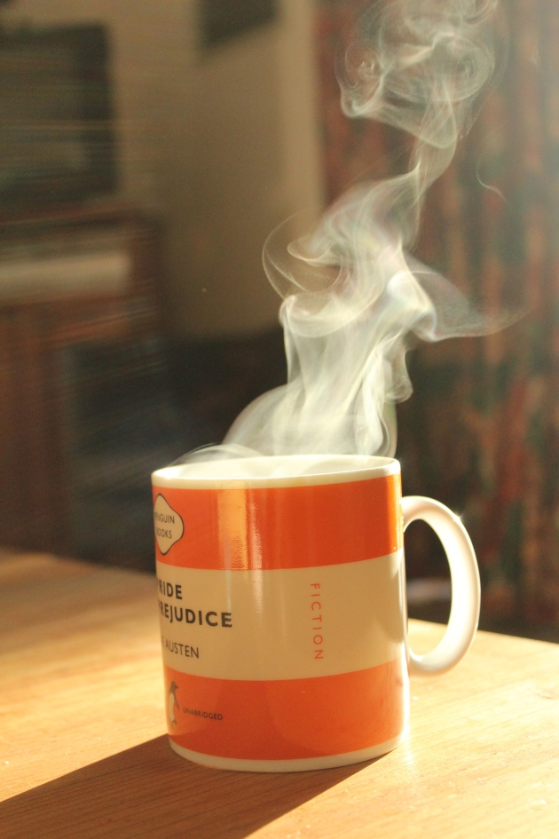 the steam on that first cup of coffee in the morning